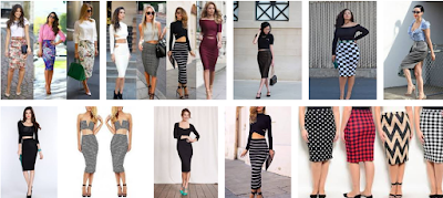 Fitted pencil skirts for ladies