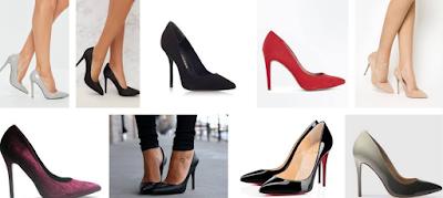 cute ladies high heel court shoe