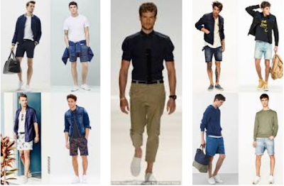fitted T-shirts with short jeans or chinos for men