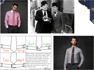 recommended neck tie length and width for men