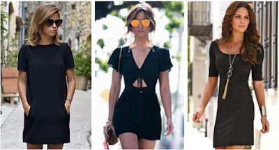 recommended short black gowns
