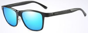 Aluminium HD Polarized Sunglasses Men Driving Fishing Mirrored Eyewear blue