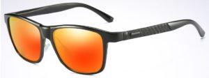 Aluminium HD Polarized Sunglasses Men Driving Fishing Mirrored Eyewear - golden