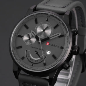 Curren Gift Mens Leather Band Sports Date Analog Alloy Military Quartz Watch