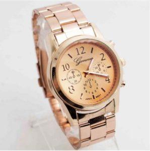 Fashion Ladies Women Girl Unisex Geneva Stainless Steel Quartz Wrist Watch