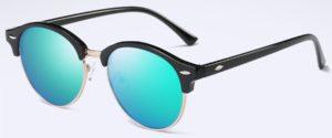 Fashion Vintage UV400 Outdoor Shades Women Mens Retro Round Polarized Sunglasses - blue