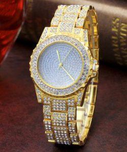 Hot Fashion Women Lady Girl Alloy Bling Rhinestone Analog Quartz Wrist Watch