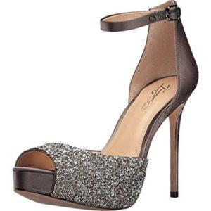 Imagine Vince Camuto Womens Karleigh Gray Evening Heels