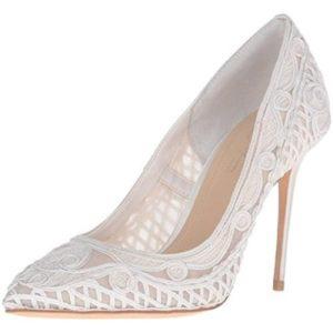 Imagine Vince Camuto Womens Olivia Ivory Dress Heels