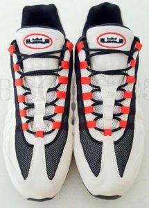 LeBron James Nike Air Max 95 basketball shoe - font view