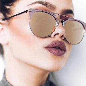 Luxury Vintage Round Cat Eye Sunglasses For Women