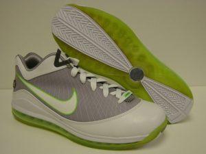 Nike Air Max LEBRON VII basketball shoe Low - side and bottom views