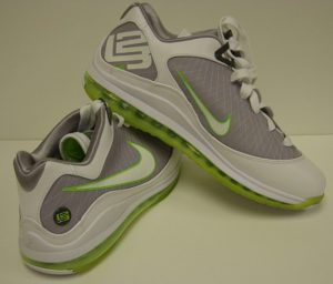 Nike Air Max LeBron VII basketball shoe Low - back and side views