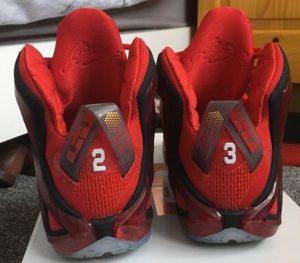 Nike LeBron Xii Elite basketball shoe - back view