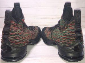 Nike Lebron 15 BHM multicolour basketball shoe - back view