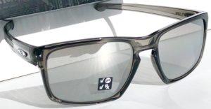 Oakley Silver Smoke Grey Polarized Chrome Iridium Sunglass