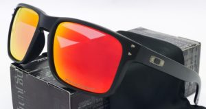 Polarized Holbrook Sunglasses Matte Black-Rubby Iridium