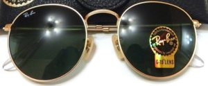 Ray Ban Round Metal RB3447 001 50-21 Sunglasses Green Classic G-15