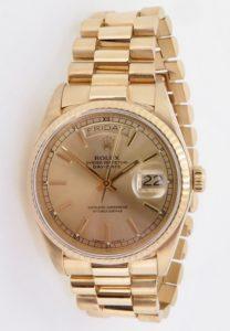 Vintage 1984 Rolex Day-Date President 18K Gold Men's Wrist Watch