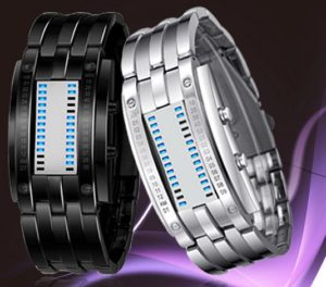 Waterproof Mens Women Stainless Steel Date Digital LED Bracelet Sport Watches