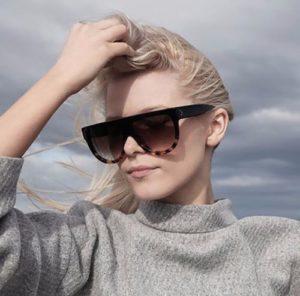 Women Inspired Flat Top Shield Tortoise Sunglasses KIM K Celebrity Eyewear 1