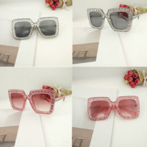 Women Oversized Square Sparkling Sunglasses Thick Frame Cat Eye Glasses different colurs