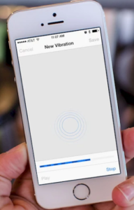 create new vibration pattern on iphones