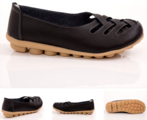 Women Lattice Nodule Comfortable Travel Shoes