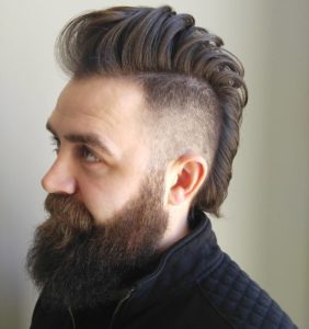 Burst Fade Mohawk Hairstyle