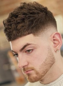 Cool Short Crop Haircut with Low Fade