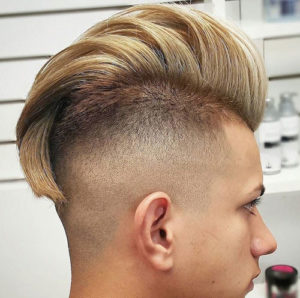 High Fade Comb Over Hairstyle