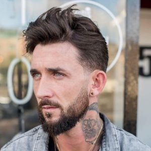 Low Fade Wavy Hair Hairstyle