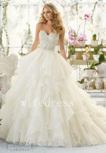 Wedding Dresses Bridal Gowns Beaded Strapless Sleeveless