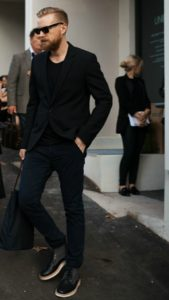 black blazer and jeans outfit for real men