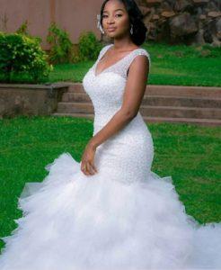 colour prints wedding gowns