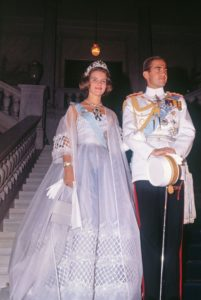 royal high waist wedding gown