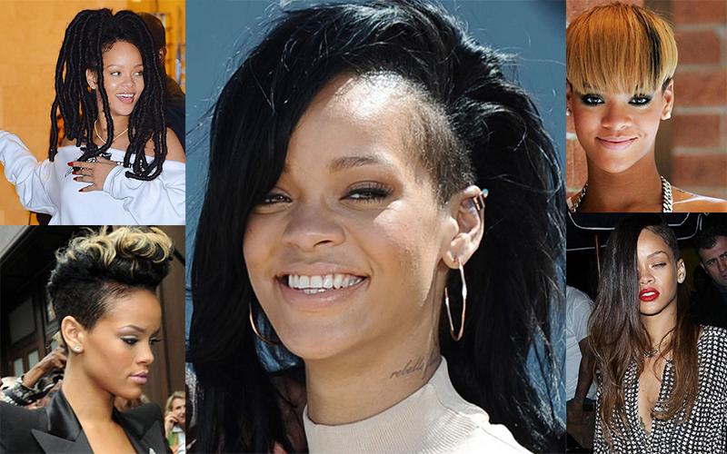 best trending rihanna hairstyles