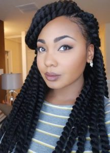 big ladies large twist braids hairstyle