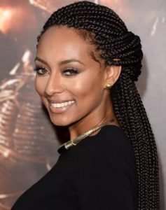 classic ladies braids hairstyle
