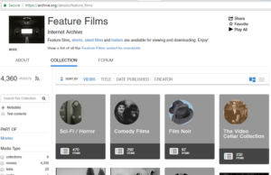 internet archive - free hd movie download site