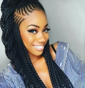 stylish long tail sided braids hairstyle