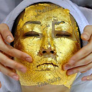 20 Pcs 24k Gold Leaf Anti Wrinkle Facial Face SPA Mask