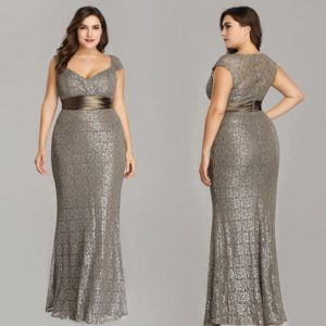 Ever-pretty Plus Size Mermaid Formal Evening Dresses Gown Cocktail
