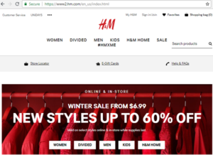 Hennes and Mauritz second best clothing fashion designer company