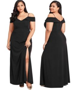 Ladies Plus Size Off Shoulder Womens Cocktail Evening Gown Party Long Dress Gift