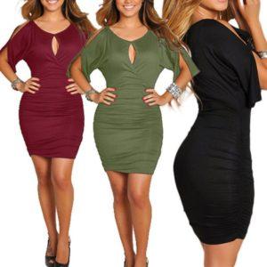 Womens Sexy Bodycon Plus Size Clubwear Party Evening Cocktail Ladies Mini Dress