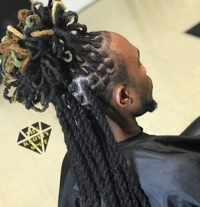 Celebrity Crazy Loc Hairstyle