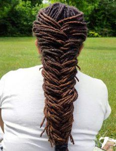 Fishtail Dreadlocks hairstyles