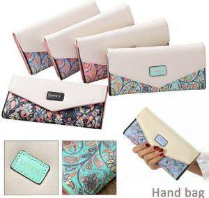 Lady Clutch Card Holder Envelope Wallet