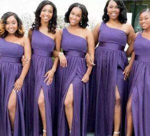 plain ankara prom gown style